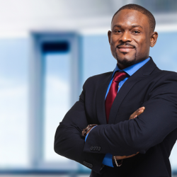 Professional Black Man Standing Outside the Office
