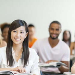 diverse college students
