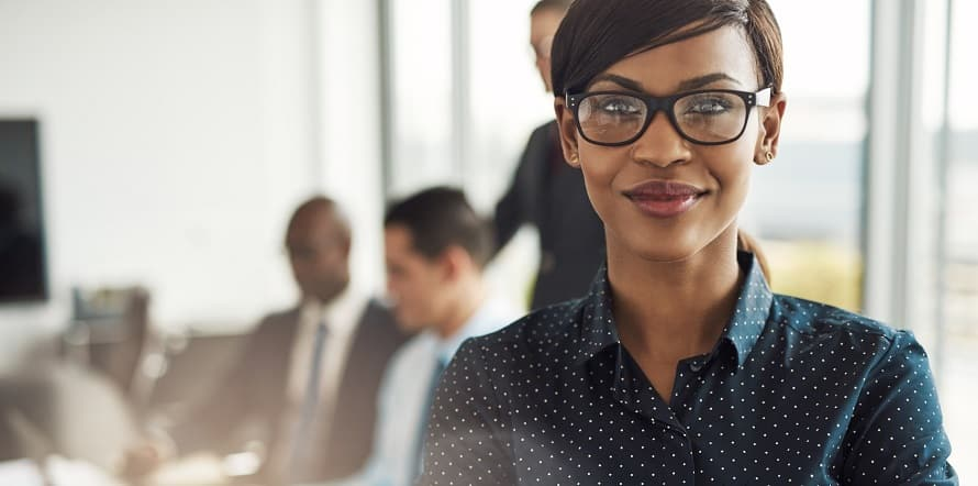 woman looking confident in her choice of careers