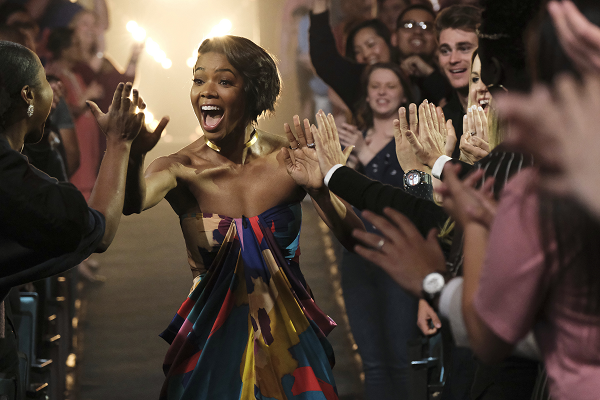 Gabrielle Union interacts with fans during America's Got Talent auditions. TRAE PATTON/NBC
