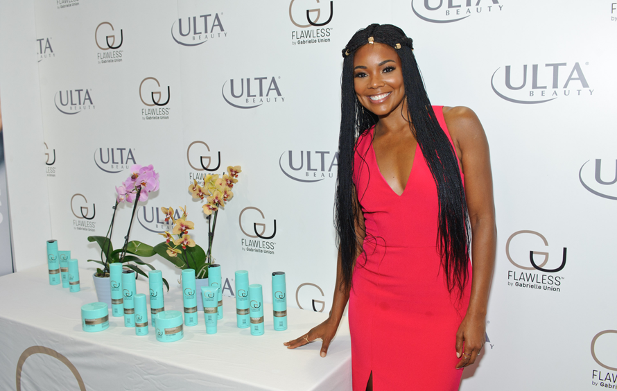 """Gabrielle Union appears at Ulta Beauty to promote her """"Flawless"""" line on Michigan Avenue on September 28, 2017 in Chicago, Illinois. TIMOTHY HIATT / CONTRIBUTOR / GETTY IMAGES"""