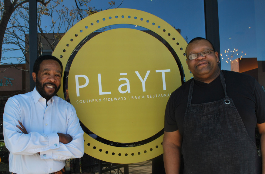 "At PLaYT restaurant in Hayward, owner Michael LeBlanc, left, and executive chef Jerome ""Spike"" Williams will celebrate African-American culinary heritage during February, which is Black History Month. (Photo courtesy of PLaYT)"