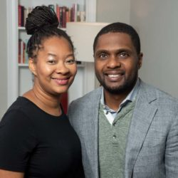 black cuisine business owners Perteet and Fred Spencer pose together