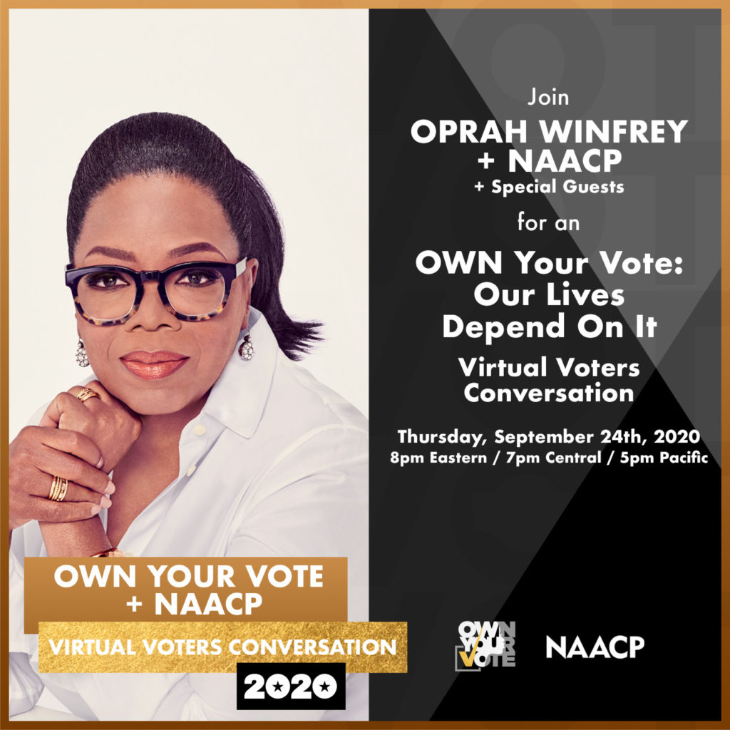 Own Your Vote Event Flyer