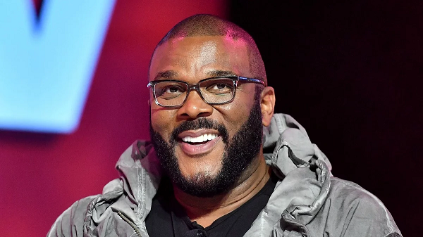 Tyler Perry pictured at awards ceremony smiling
