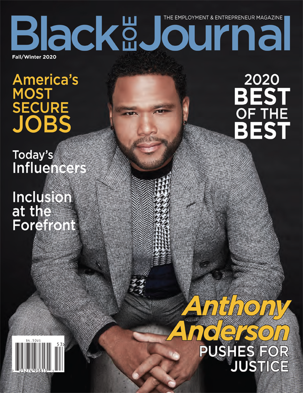 Anthony Anderson on the cover of the Black EOE Journal
