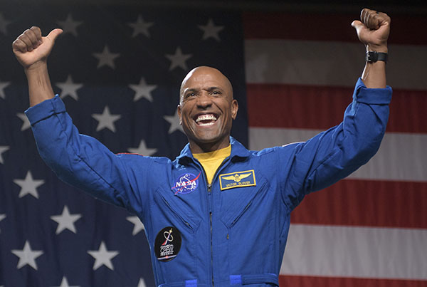 Victor Glover Blue NASA Suit