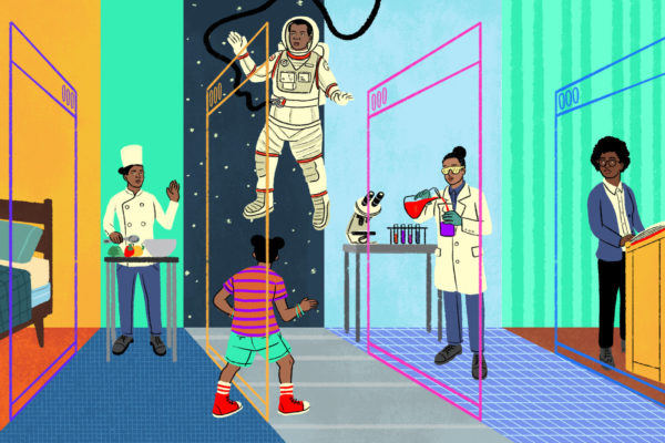 Graphic of black scientists