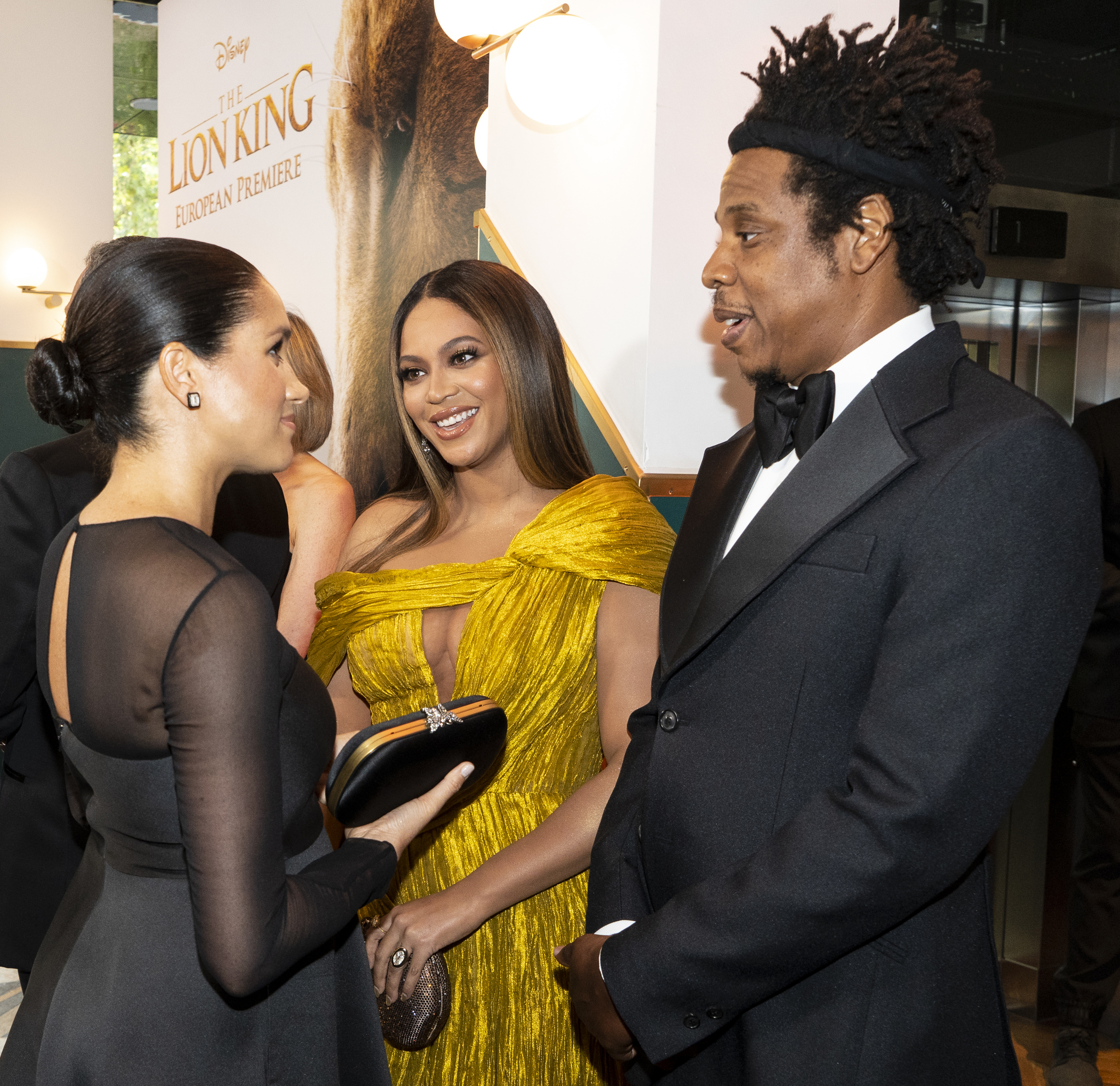 Beyonce and Jay Z meet Meghan Markle at the Lion King movie premiere