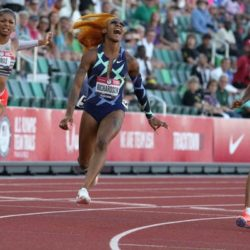 The first sprint secured Sha'Carri Richardson's place at the Tokyo Olympics.