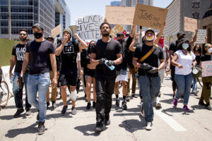 Michael B. Jordan, Kendrick Sampson and others participate in the Hollywood talent agencies march to support Black Lives Matter protests