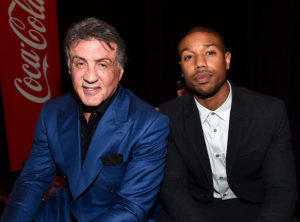Actors Sylvester Stallone and Michael B. Jordan attend Warner Bros. Pictures Invites You to