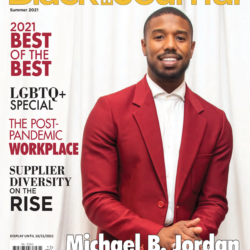 Michael B. Jordan on the cover of the summer issue of the Black EOE Journal
