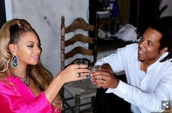 Cheers: Jay-Z made rare comments about his wife Beyonce this weekend. He said he loves working with her because she is 'super detail-orientated' and 'inspiring'