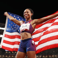The gold medal for U.S. star Allyson Felix brings her Olympic medal total up to 11, making her the most decorated U.S. track and field athlete in history.